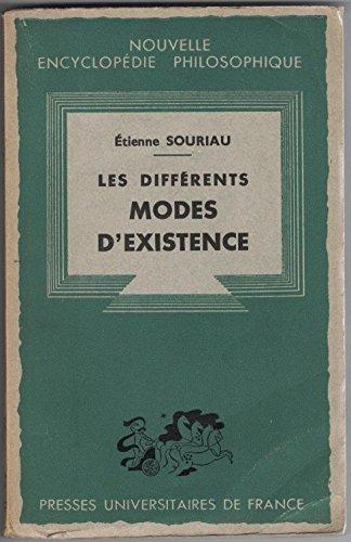 Les Diffrents Modes d' Existence.