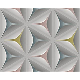 A.S. Creation 96042-2 A.S.Creation 3D Star Effect Wallpaper, Roll Size: 10.05m x 0.53m