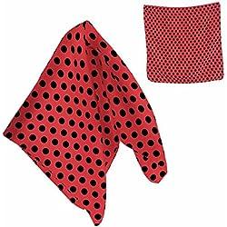 Pañuelo Sevillana Rojo Lunares Negros