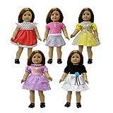 ZITA ELEMENT 5er Puppenkleidung Kleider für 43-46cm Babypuppe und American 18 Zoll Girl Doll...