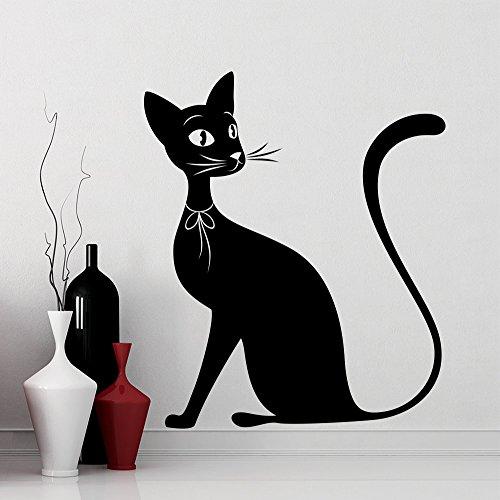 Nette Ganze Schwarze Silhouette Wandaufkleber Home Kinder Kinder Schlafzimmer Süße Dekor Wandbilder Tiere Serie Wandtattoos Wm 75X85 CM
