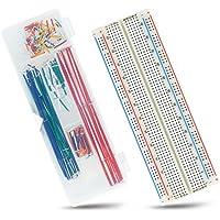 Neuftech MB102 protoboard 830 Punto Contactos Breadboard + 140 pcs Jumper cables macho a macho para Raspberry Pi Arduino
