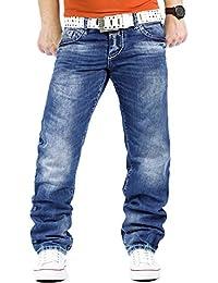 Cipo & Baxx Herren Jeans Mens Pants Freizeit-hose Clubwear Designer Style Denim