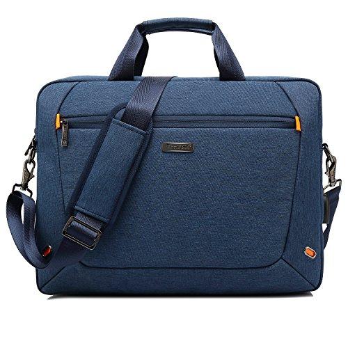 CoolBell 15,6 Zoll Laptoptasche Messenger Bag Aktentasche Handtasche Herren Umhängetasche Oxford Nylon Schultertasche Business Briefcase Laptop Tasche für MacBook/Notebook(Blau) -