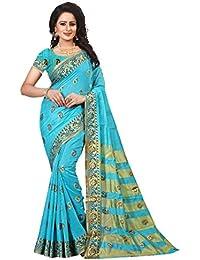 [Sponsored]Ecolors Fab Women's Tussar Silk Saree Kanchipuram Style (saree For Women Latest Design 2018 /Party Wear Sarees...