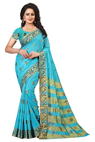 Ecolors Fab Women's Tussar Silk Saree Kanchipuram Style (Latest Designer Sarees /Party...