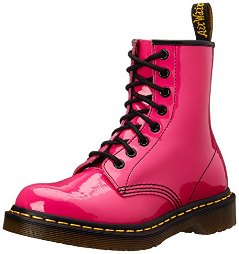 Dr. Martens 1460 Patent Stivaletti, Unisex Adulto, Hot Pink Patent,