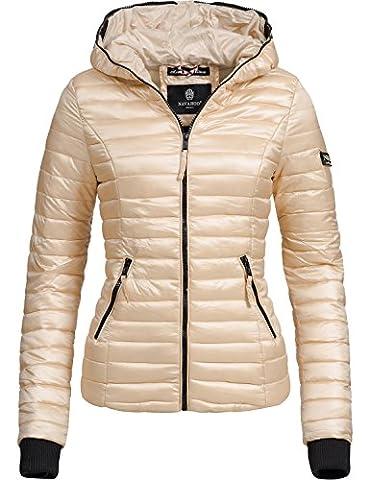 Navahoo Damen Jacke Übergangsjacke Steppjacke Kimuk (vegan hergestellt) Gold Gr. XS (Jacken Kurz)