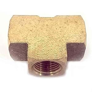 Interstate Pneumatics FP88T Brass Tee Fitting 1/2 Inch NPT Female by Interstate Pneumatics