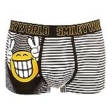 Smiley World Smile at me lustige Boxershort Unterhose Pant Underwear Geschenk für Herren, Jungen, lustig witzig frech Smileys 95 % Baumwolle (L)