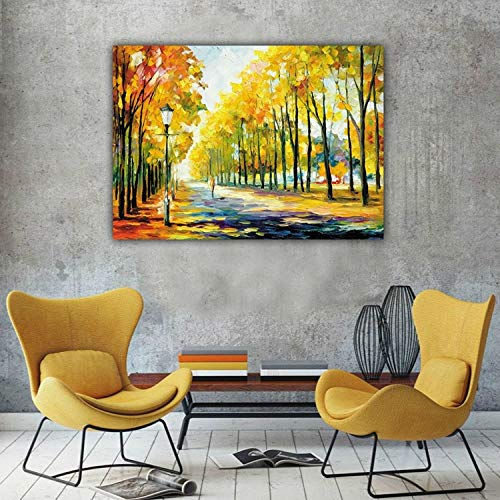 Baodanla frameless colorato dipinto ad olio autunno road view hd pittura a getto d'inchiostro frameless nucleo decorativo pittura 30 cm * 50 cm