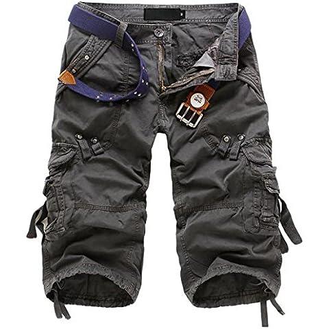 Jeansian Estate Tendenze Moda Uomo Sport Casuale Militare Pantaloncini Calzoncini
