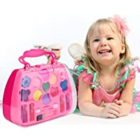 Princess Girl's Pretend Play Toy Deluxe Makeup Palette Set NON TOXIC For Kids
