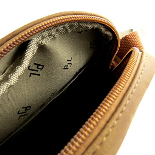 Bolsa de hombro 'Pepe Jeans'marrón de la vendimia - 23.5x19x7 cm.