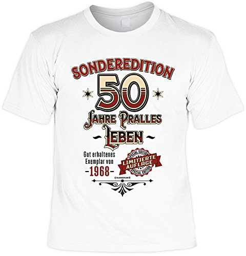 Geburtstag T-Shirt - Sonderedition 50 Jahre Pralles Leben - Zum 50er mit - Jahre Leben