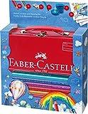 Faber-Castell 201312 - Malkoffer Jumbo Grip 18 Buntstifte, Bleistift, Pinsel und Wasserbecher