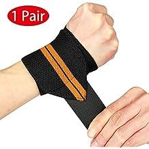 Wrist Wraps by Vikaster-18 Grado Profesional con Lazos para el Pulgar de 2.5