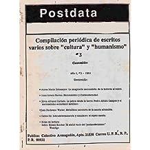 Postdata: Vol 1 Num 3: Volume 1