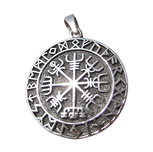 Himalayan Treasures 925Silber Viking nordisch celtic Trident Anhänger Halskette Schmuck Art A12