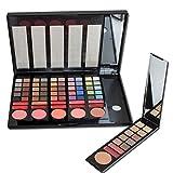 PhantomSky[Versión de lujo] 78 Colores Sombra De Ojos Paleta de Maquillaje Cosmética con Corrector y Rubor y Brillo de labios #1- Perfecto para Uso Profesional y Diario