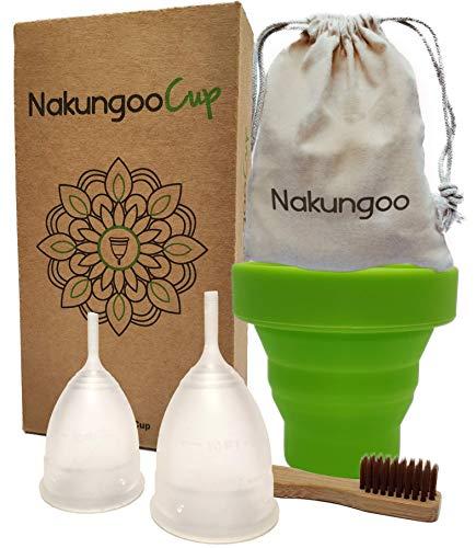 NakungooCup Copa Menstrual Kit Suave Organica Certificado