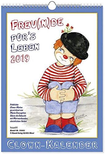 Freu(n)de für's Leben 2019: Jubiläums-Wandkalender mit Clown-Motiven