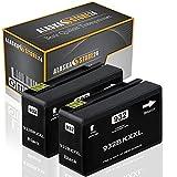 2X Druckerpatrone Komp. für hp 932xl 932 XL Schwarz Black BK mit Officejet 6700