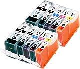 Metro Market 10 Stücke Kompatible Patronen Ersatz für Canon BCI-3 BCI-6 Tintenpatronen Hohe Kapazität für Canon PIXMA iP4000 iP5000 MP750 MP780 i865