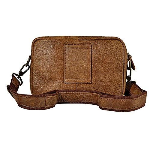 Genda 2Archer Mini bolso de la Correa de la Bolsa de la Cintura del Vintage Bolso de Tracolla del Saco del Fanny de la Aleta (24cm * 9cm * 16cm)