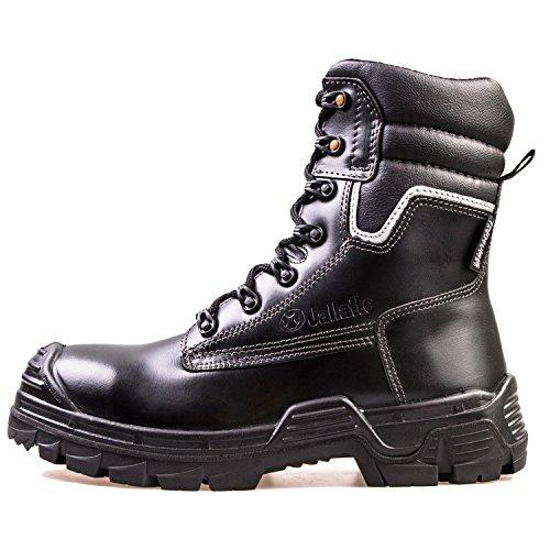 Sicherheitsstiefel SB P Jalatte® LOG290 Schwarz Herren - klappbare Metallspikes, kälteisoliert, wasserabweisend, durchtrittsicher, Zehenschutz (46)