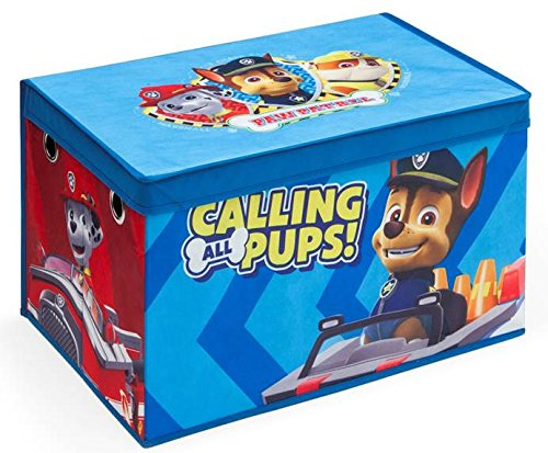 Delta TB83307PW Paw Patrol faltbare Spielzeugtruhe, Stoff, blau, 55 x 37 x 32 cm
