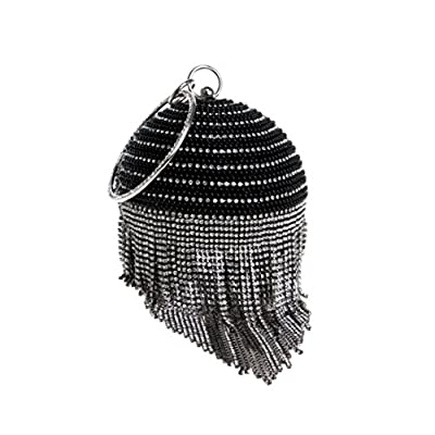 Fringe Evening Bag Ladies Fashion Banquet Handbag Rhinestone Evening Bag Wild Clutch - clutches