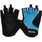 Amazon Brand - Solimo Gym Gloves (Medium), Black/Blue