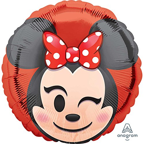Amscan International 3675101Minnie Maus Folienballon Emoji