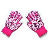 TUDUZ Männer Damen Weihnachten Winter Warm Gestrickte wapiti Druck Bildschirm Nette Touchscreen Handschuhe