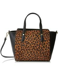 Cortefiel 2.T.BS. Bolso Shopper Med Leopardo, Mujer, Beige (