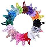 Cuhair Lot de 10 barrettes à cheveux Fleur en mousseline Accessoires pour fille, enfant