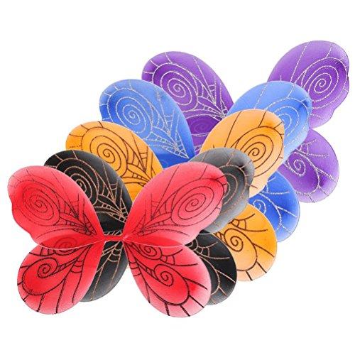 Frcolor 5 Stück Halloween Mädchen Schmetterlingsflügel (Kostüme Flügel Halloween Fee)