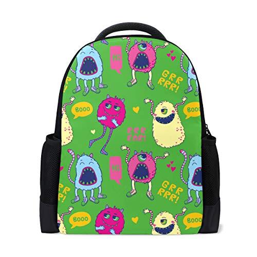 Bonipe Cartoon Little Monster Casual Rucksack Custom Büro Schule Laptop Tasche Reise Daypack