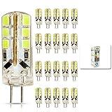 mengjay® 20 Stück - 3W G4 LED leuchten, Ersatz für 30W Halogenlampen, DC 12V, 260lm, Kaltweiß , 6000K, 360° Abstrahwinkel