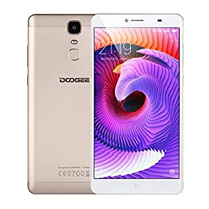 DOOGEE Y6 Max 3D 4G Smartphone 6.5inch FHD Glasses Free 3D Screen 1920*1080px MTK6750 64Bit Octa-core CPU 3GB RAM 32GB ROM Android 6.0 OS 13.0MP+5.0MP Camera Fingerprint Metal Body Cellphone (Gold) (Gold)