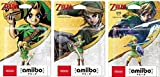 Amiibo link 3 piece set ( The legend series of Zelda ) Majora'S Mask,twilight princess,sky warred sword Japan Import