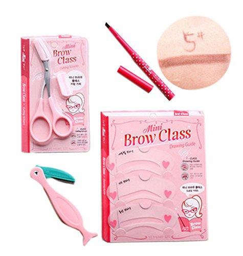 4 pièce maquillage définissez / professionnel maquillage sourcils, crayon brun