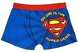 Hommes SUPERMAN officiel Dad Super Héros Short Compatible avec Boxer Court Slip tailles S M L XL - Bleu, Small
