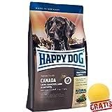 HAPPY DOG Supreme Sensible Canada HDSC + BALL Gratis Hundefutter Ohne Getreide Hunde Futter (4 kg)