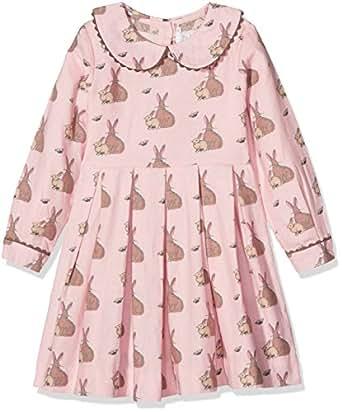 Rachel Riley Mädchen Kleid Bunny Flannel Dress, (Pink PK29), 8 Jahre