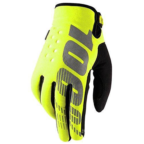 100% Prozent Brisker Handschuhe Soft Shell MTB DH MX Motocross Enduro Offroad Quad, HU-GLO-0007, Farbe Gelb, Größe L