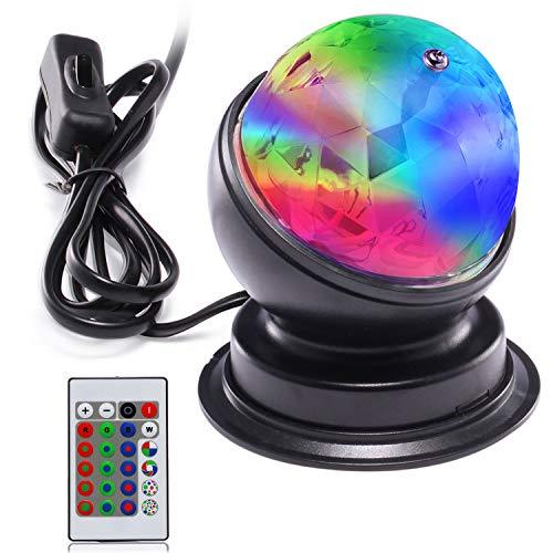 AVAWAY LED Discokugel Party Lampe Disco Lichteffekte Discolicht RGB Tischlampe Party Licht Drehbares für Geschenk Geburtstagsfeier DJ Bar Karaoke Weihnachten Hochzeit(Schwarz 3, Fernbedienung)