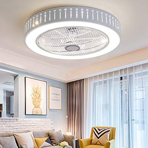 Ventilador De Techo Redondo Regulable Con Iluminación,acrílico Invisible Plafon 40w Empotrable Led...