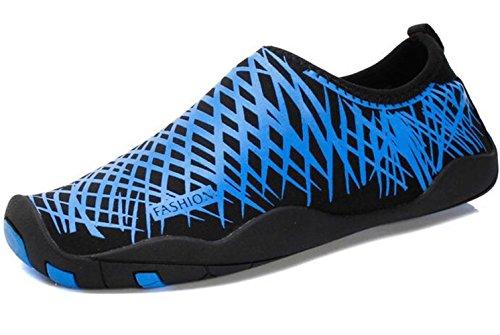 DADAWEN chaussures pour sport aquatique /plage /running Mixte Adulte bleu(B)